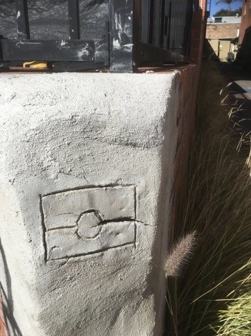ab flag in concrete