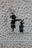 girl and bin stencil